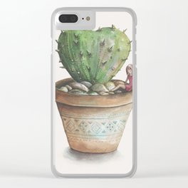 Protected Heart Clear iPhone Case