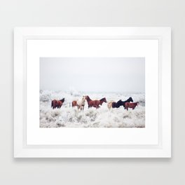 Winter Horseland Framed Art Print