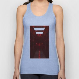 January Babies  Garnet Cut Gemstone Unisex Tank Top