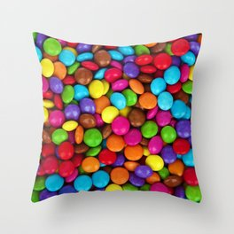 Candy Coated Chocolate Throw Pillow