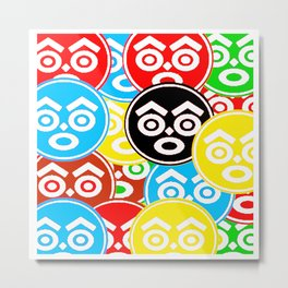 """ZULU NATION: MULTI-COLOR LOGO DUECE"" Metal Print"