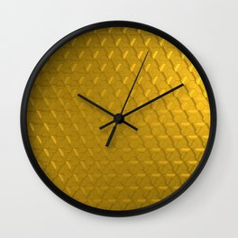 Golden honeycomb pattern Wall Clock