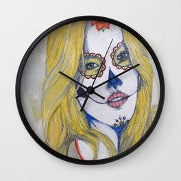 """Guera"" or ""Blondie"" Wall Clock"