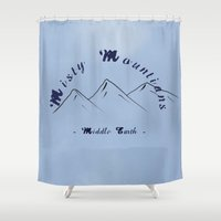 the hobbit Shower Curtains featuring Misty Mountians : The Hobbit by Wolfei