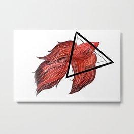 Urban Betta Red Metal Print