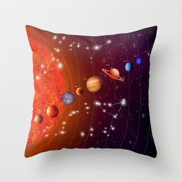 Planeten Throw Pillow
