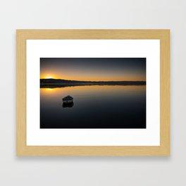 Boat on Knysna lagoon at Sunrise Framed Art Print