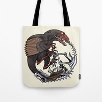 bouletcorp Tote Bags featuring Ouroboros by Bouletcorp