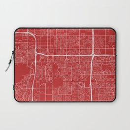 Tempe Map, USA - Red Laptop Sleeve
