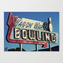 Wagon Wheel Bowling Canvas Print