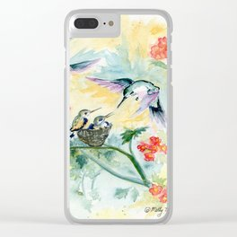 Hummingbirds Secret Garden Clear iPhone Case