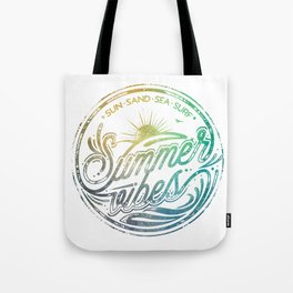 Summer vibes - typo artwork Tote Bag