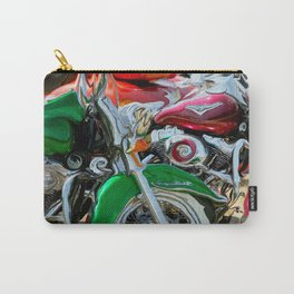 Green Paint And Chrome, Motorcycle Eye Candy Carry-All Pouch