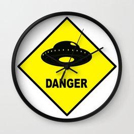 DANGER ALIEN Wall Clock