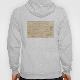 Vintage Map of Lake Winnipesaukee (1896) Hoody