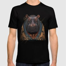 Hippo Mens Fitted Tee Black SMALL