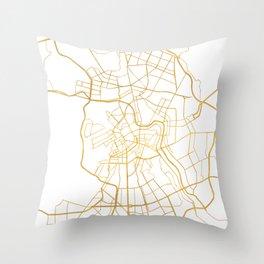SAINT PETERSBURG CITY STREET MAP ART Throw Pillow