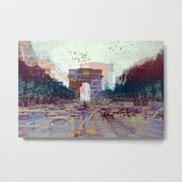 Parisian Mosaic - Piece 25 - Les Champs-Élysées Metal Print
