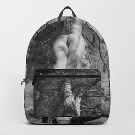 9102-LP Tree of Life Nature Goddess Earth Mother One with the Tree BW Fine Art Nude Backpack
