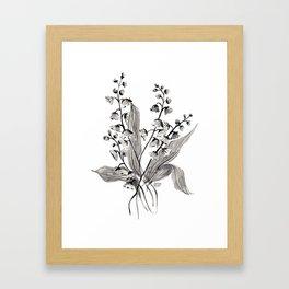 GREYSCALE BOTANICALS Framed Art Print