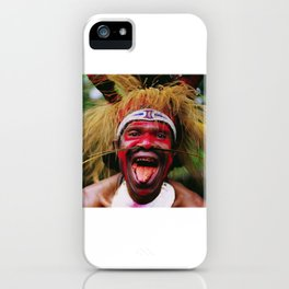 Eating a Betel Nut in Papua New Guinea iPhone Case