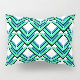 Blue Green Pattern Pillow Sham