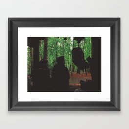 Waiting Out The Rain • Appalachian Trail Framed Art Print