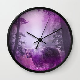Fairy bear out of the woods Wall Clock