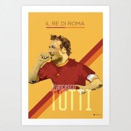Totti AS Roma / Serie A Superstar Football Player Art Print