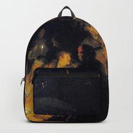 Rembrandt - Nocturnal biblical scene Backpack