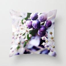 Vanilla Blue Throw Pillow