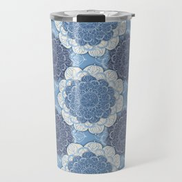 Lacy Blue & Navy Mandala Pattern  Travel Mug