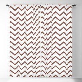 Zigzagged (Maroon & White Pattern) Blackout Curtain