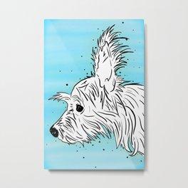 Chorkie Dog Profile Metal Print