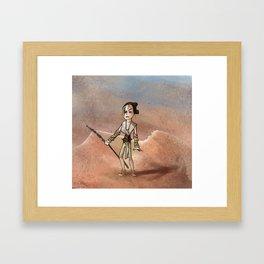 Sandstorm warrior Framed Art Print
