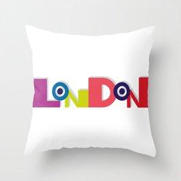 London 5 Throw Pillow