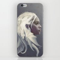 dude iPhone & iPod Skins featuring Mother of Dragons by Artgerm™
