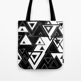Triangle black and white Tote Bag