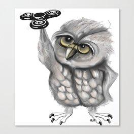 Fidget spinner owl Canvas Print