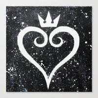 kingdom hearts Canvas Prints featuring Kingdom Hearts Heart by Herk Designs