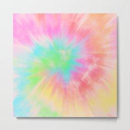 Rainbow Tie Dye Pattern Metal Print