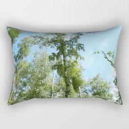 Nature. Blue Sky, Green Trees Rectangular Pillow