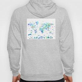 world map animals collage Hoody