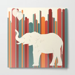 Elephants Play Metal Print