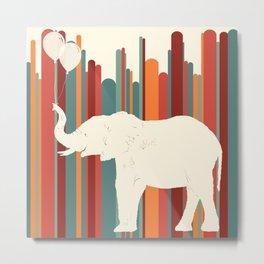 Elephants Play Metal Print