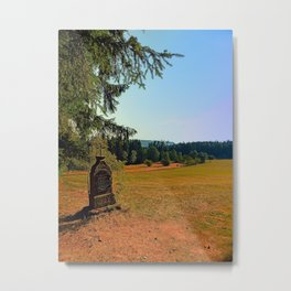 Wayside shrine with scenery | landscape photography Metal Print