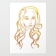 Yellow Portrait Art Print