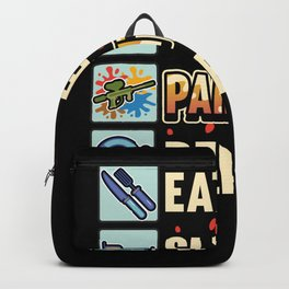 Funny Paintball Gotcha Airsoft Saying Gift Backpack