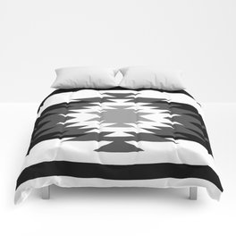 Aztec - black and white Comforters