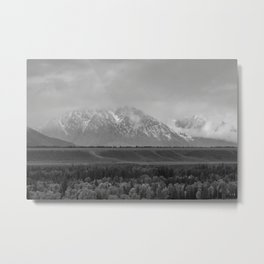 Mountains with Snow and Cloud Cap Metal Print